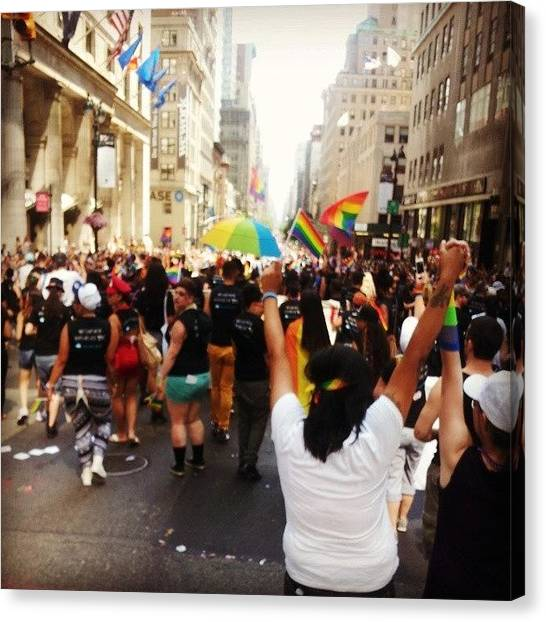 Gay Pride Canvas Print - Pride Nyc by Ashley Ross