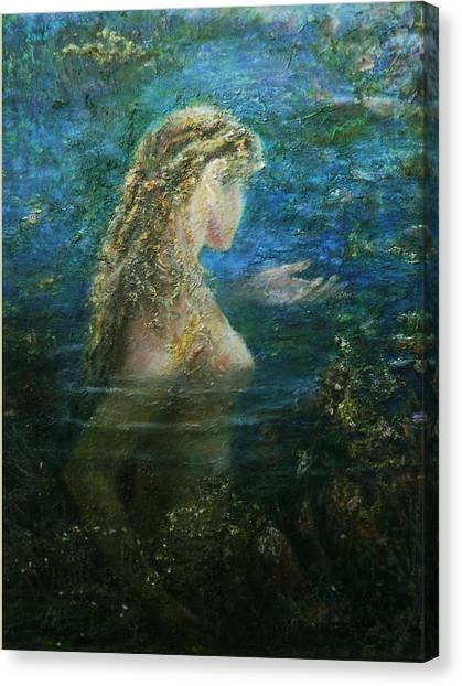 In Lake  Canvas Print