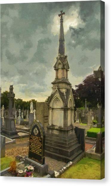 Buried Canvas Print - In Loving Memory by Jeffrey Kolker