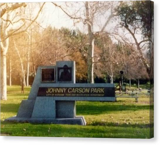 Johnny Carson Canvas Print - In Memory by Barb Montanye Meseroll