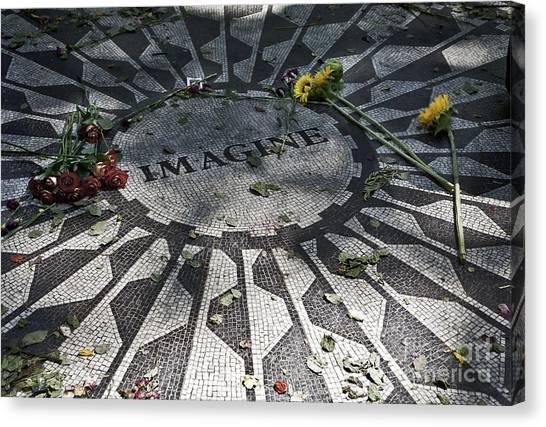 Yoko Ono Canvas Print - In Memory Of John Lennon - Imagine by Madeline Ellis