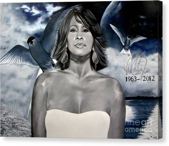 In Memory Of...whitney Houston Canvas Print