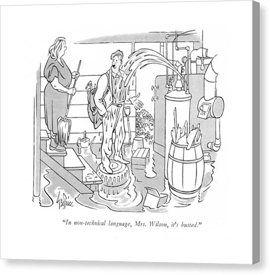 Plumber Canvas Print - In Non-technical Language by George Price