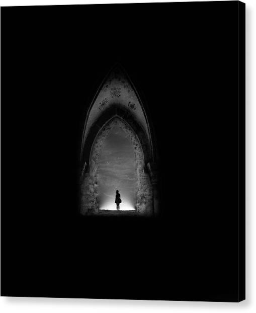 Gothic Art Canvas Print - In Permanent Void by Radin Badrnia