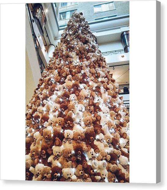 Teddy Bears Canvas Print - In Quebec, We Grow Teddy Bear Trees by Isabelle Gadbois
