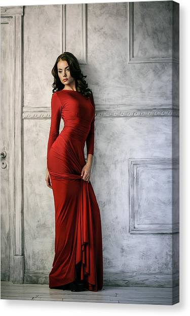 Fashion Canvas Print - In Red by Constantin Shestopalov