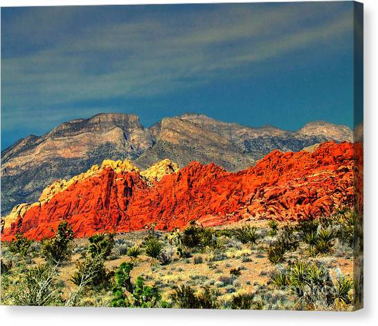 In Red Mountain 1 Canvas Print