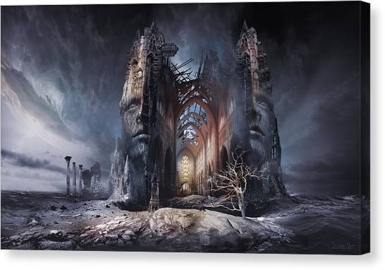 Surrealistic Canvas Print - In Search Of Meaning by George Grie