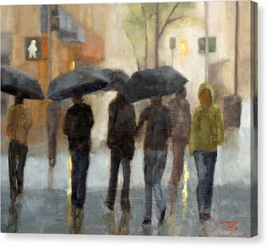 In Spite Of Rain Canvas Print