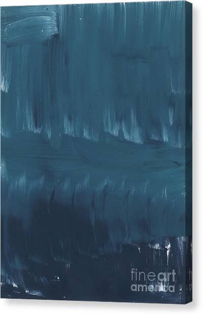 Brush Stroke Canvas Print - In Stillness by Linda Woods