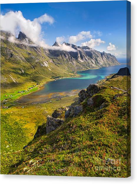 In The Arctic Circle Canvas Print