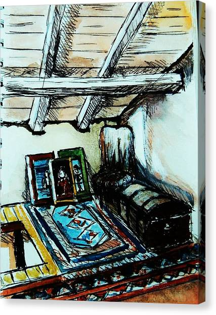 In The Attic Canvas Print by Anne Parker