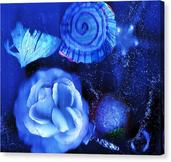 Canvas Print - In The Blues Of The Night by Anne-elizabeth Whiteway
