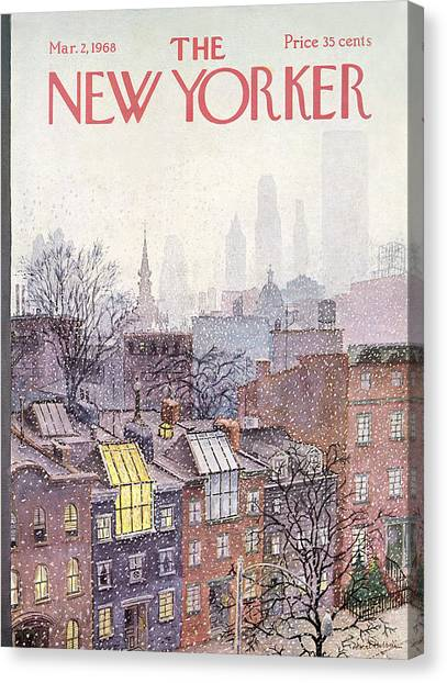 New Yorker March 2, 1968 Canvas Print