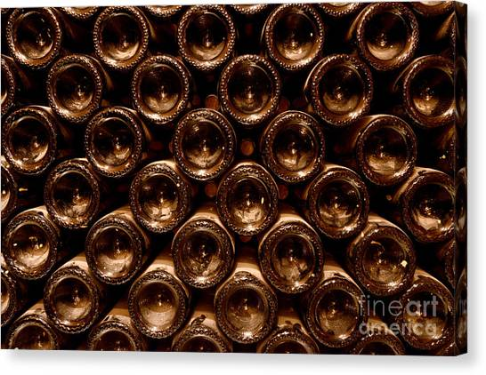 Cognac Canvas Print - In The Cellar by Jon Neidert