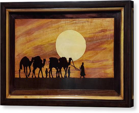 In The Desert Canvas Print