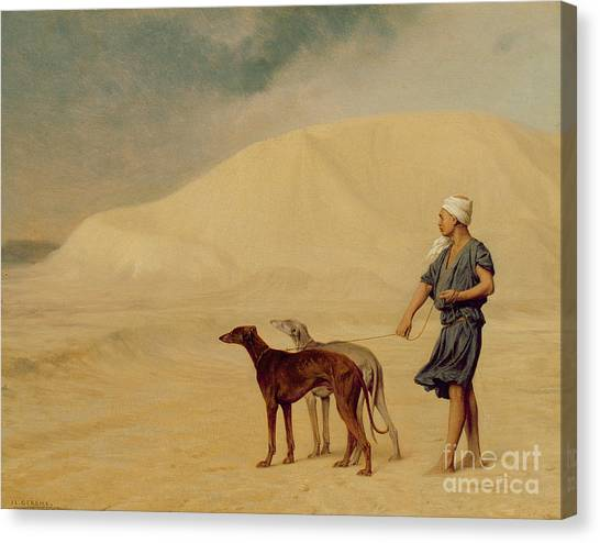 Hot Dogs Canvas Print - In The Desert by Jean Leon Gerome