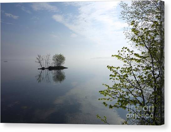 In The Distance On Mille Lacs Lake In Garrison Minnesota Canvas Print