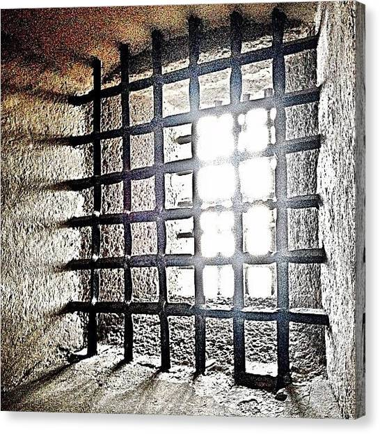 Dungeon Canvas Print - In The Dungeon #castle #dungeon #travel by Emily Hames