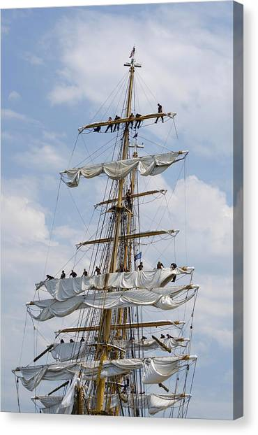 In The Eagle's Rigging Opsail 2012 Canvas Print