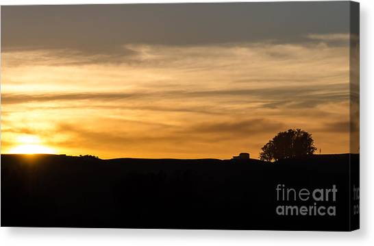 In The Evening I Rest Canvas Print
