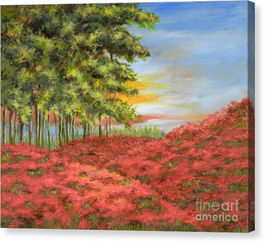 In The Field Of Poppies Canvas Print