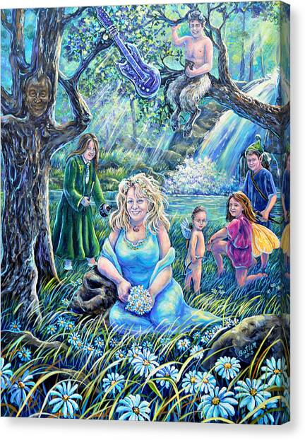 In The Garden Of The Goddess Canvas Print