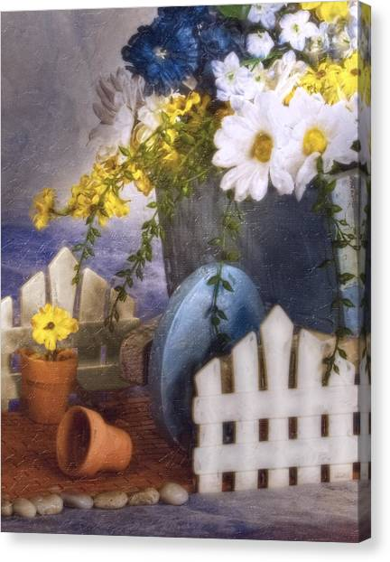 Clay Canvas Print - In The Garden by Tom Mc Nemar