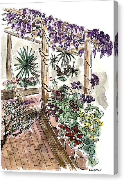 In The Greenhouse Canvas Print