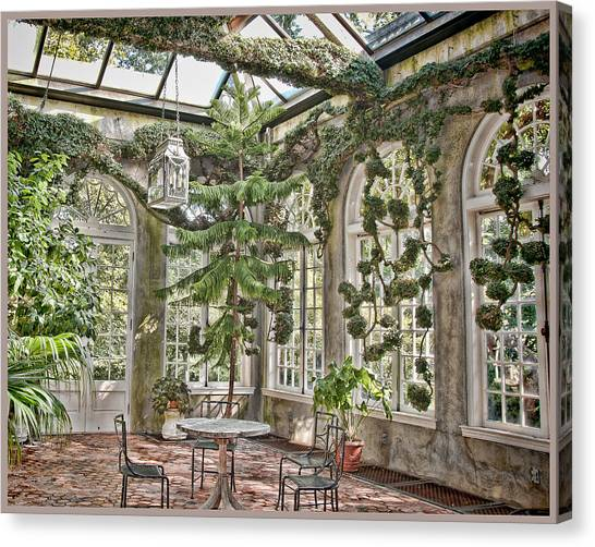 In The Greenhouse Canvas Print by Elin Mastrangelo