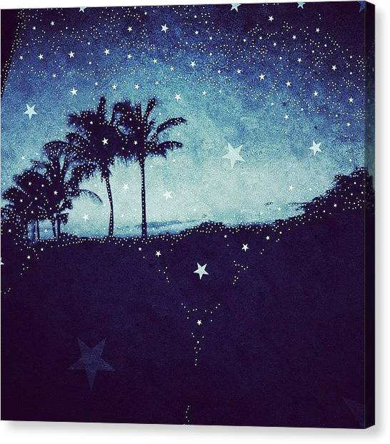 Starry Night Canvas Print - Tropical Starry Night by Eugene Evon