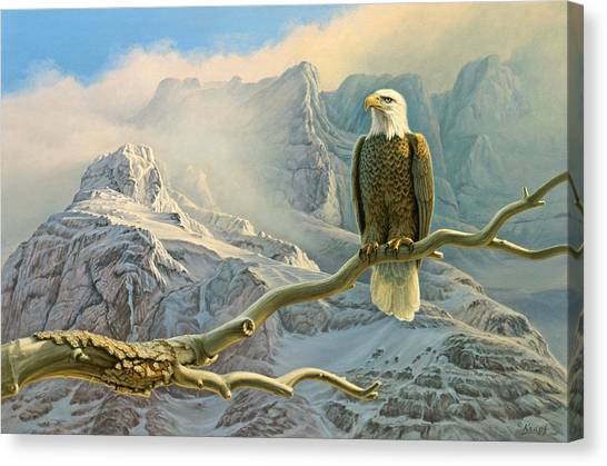 Eagles Canvas Print - In The High Country-eagle by Paul Krapf