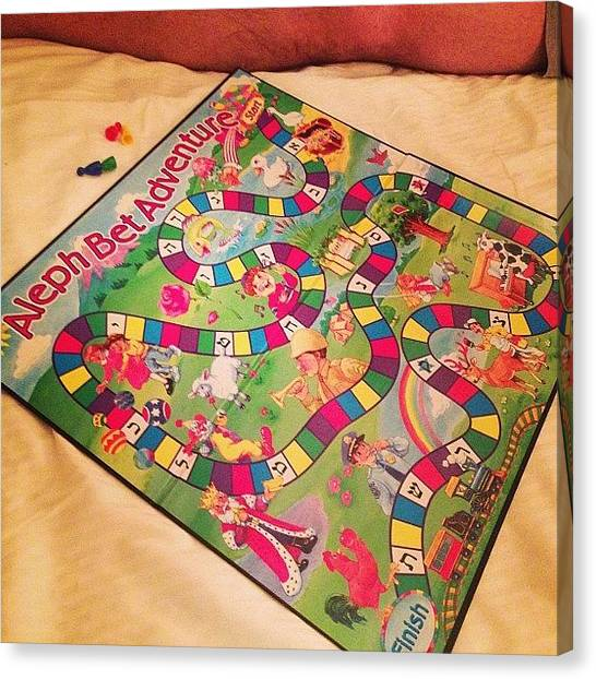 Israeli Canvas Print - In The #israeli #candyland Game You by Bryce Gruber