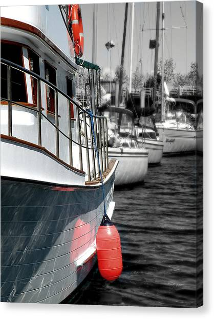 In The Lead Canvas Print