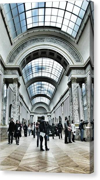 The Louvre Canvas Print - In The Louvre  by Marianna Mills