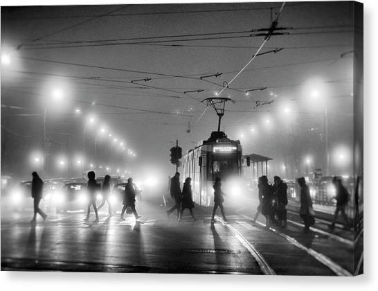 Traffic Canvas Print - In The Mist by Vrabiuta Albert Adrian