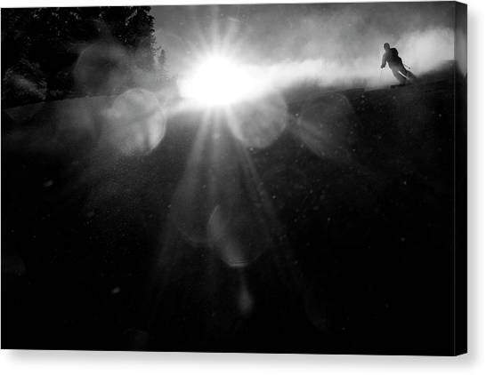 Skiing Canvas Print - In The Morning by Martina Dimunov?