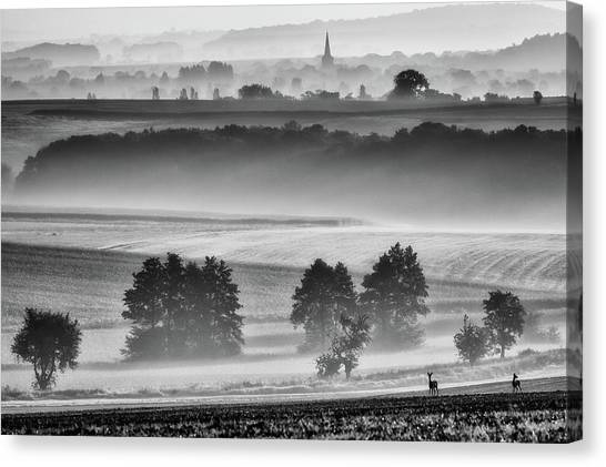 Chapel Canvas Print - In The Morning by Piotr Krol (bax)