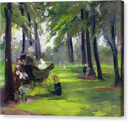Victorian Garden Canvas Print - In The Park  by Mary C Greene
