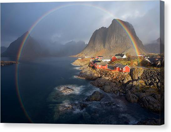 Rainbow Canvas Print - In The Rainbow by Nicolas Schneider