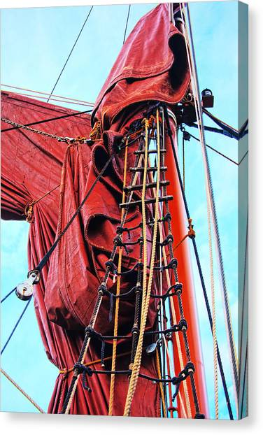 In The Rigging Canvas Print