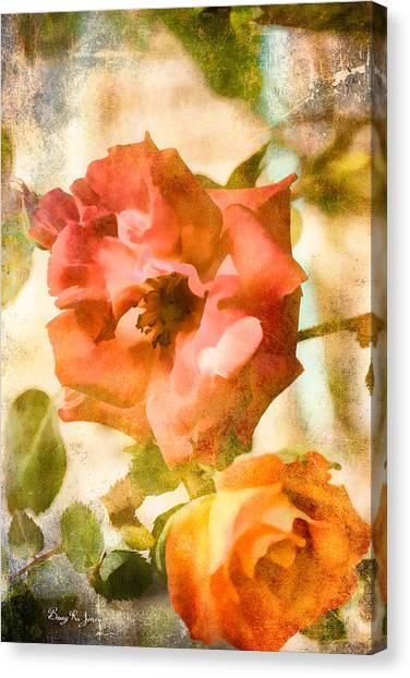 Floral - In The Rose Garden Canvas Print by Barry Jones