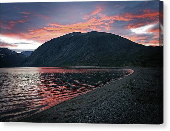 In The Shadow Of Mount Kaputyat Canvas Print