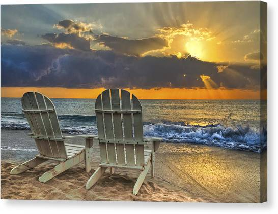 Coastal Art Canvas Print - In The Spotlight by Debra and Dave Vanderlaan