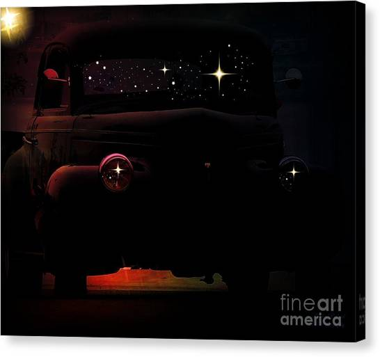 Matting Canvas Print - In The Still Of The Night by Bobbee Rickard