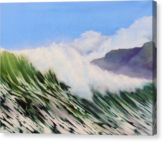 In The Surf Canvas Print