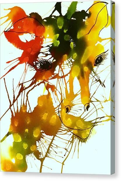 Splashy Art Canvas Print - In The Wild by Ellen Levinson