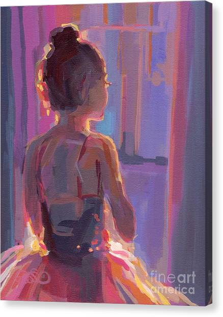 Ballet Canvas Print - In The Wings by Kimberly Santini