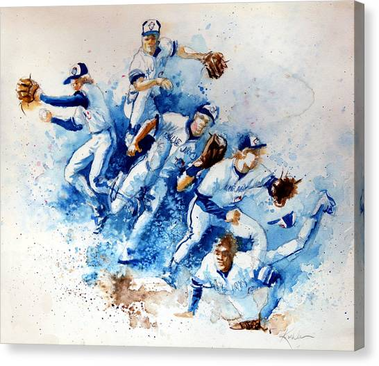 Toronto Blue Jays Canvas Print - In The Zone by Hanne Lore Koehler