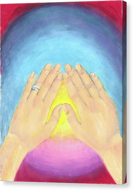 In This Moment The Answer Is Peace Canvas Print